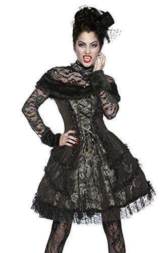 Sexy Sachen Für Halloween - Premium Vampir-Kostüm Damen schwarz-grau S Verkleidung