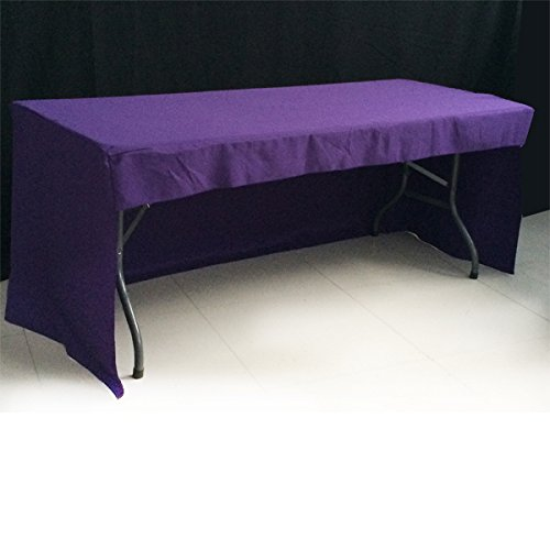 New Release 6 ft Fitted Purple 3 Sided Rectangular Trestle Exhibition Tablecloth Venue Occasion Venue PDB