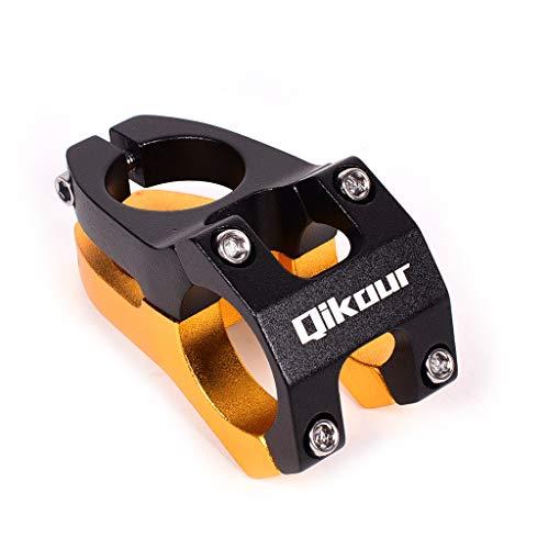 LIDAUTO Mountainbike Riser Aluminium 40MM 0 ° Grad 31.8mm * 28.6MM Lenker Steigerer,Black/Gold -