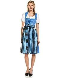 241aec01b712d5 Turi Landhaus Damen Dirndl Trachten Kleid Midi Schürze Oktoberfest