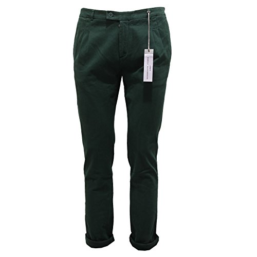 6662Q pantalone uomo GREY DANIELE ALESSANDRINI verde trousers men [46]
