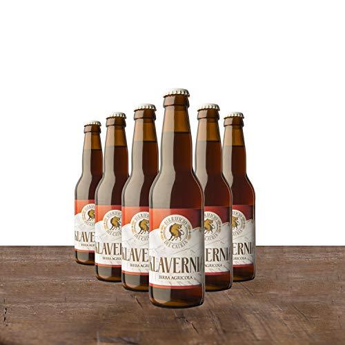 BIRRA ROSSA in stile Belgian Dark Strong Ale - Birra Artigianale Agricola - KLAVERNIA La bruna di Chiaserna - confezione da 12 bottiglie 33 cl cad. - Confezione regalo e messaggio di auguri