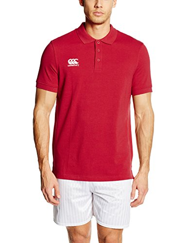 Canterbury Men's Waimak Polo Shirt - Flag Red, 2XL - Sleeve Flag Shirt