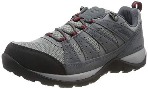 Columbia Redmond V2, Zapatos de Senderismo Impermeables para Hombre, Gris Monument, Red J 036, 43...