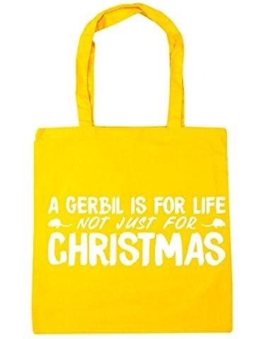 hippowarehouse un gerbille est pour la vie, pas seulement pour Noël sac shopping Gym Sac de plage 42cm x38cm, 10litres - jaune - Taille unique