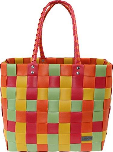 normani Einkaufstasche geflochten mit Henkeln - Tragetasche extra robust Farbe Classic/Veggie