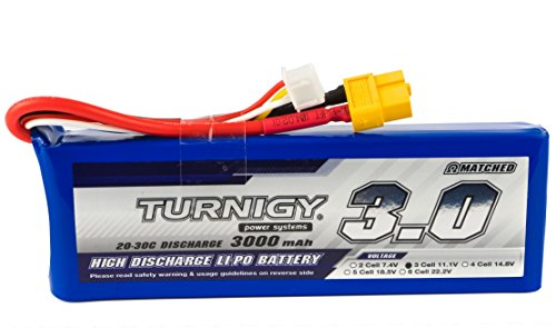 Lipolix Turnigy 3000mAh 3S - 11,1V - 20-30C Lipo Akku Pack Lipoakku | Perfekt als Flugakku, Akku für RC Fahrzeuge,  Geräteakku - Hobbyking