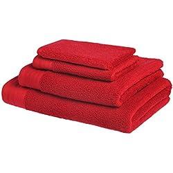 Juego de toallas de baño de lujo de algodón peinado egipcio de 600g/m2: 1 toalla 50x100cm + 1 toalla para invitado 30x50cm + 1 toalla de Ducha 70x140cm