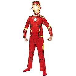 Rubies 640829M - Disfraz infantil oficial de Marvel Avengers Iron Man (talla única)