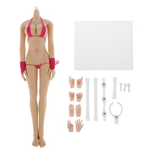 1/6 Nahtlose Große Brust Körper Figur Puppe Weibliche Gummi Blasse Hautschicht Spielzeug