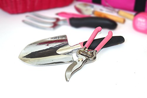 49 teiliges Gartenwerkzeugset mit Korb und Tasche - 2