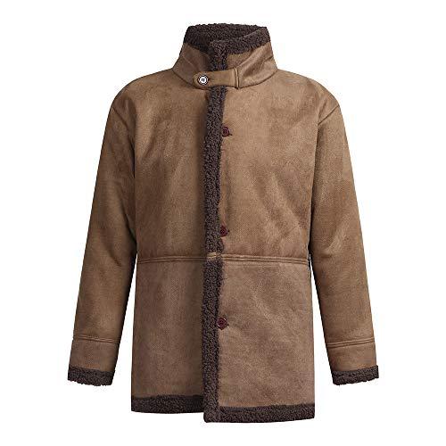 Setsail Herren Winter Schaffell Jacke warme Wolle gefüttert Mountain Faux Lamb Jacken Herrentel - Klassischen Look Wolle Anzug