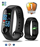 MiCompatible Fitness Band 3 Activity Tracker | OLED Heart Rate Monitor, Health Activity