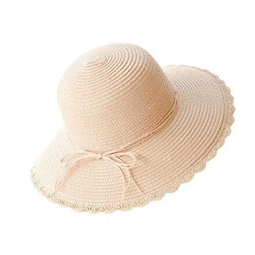 Flying Rabbit Damen Sonnenhüte Faltbarer Strohhut mit Sonnenschutz Breite Krempe (Stroh-sonnenhut Frauen)