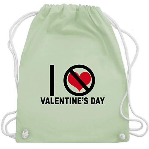 Valentinstag - I hate Valentine's Day - Unisize - Pastell Grün - WM110 - Turnbeutel & Gym Bag