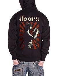 The Doors Lizard King officiel Homme nouveau Noir Zipped Sweat-shirt à capuche