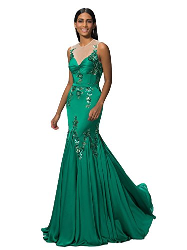 Ikerenwedding - Robe - Mermaid - Femme green