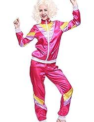 Halloween Damen Retro 80er Traingsanzug Jogginghose Trainingshose Trainingsjacke Damen Kostuem