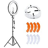 Neewer Camera Photo Video Lighting Kit:18 Inches 75W 5500K Fluorescent Ring Light, Light Stand,Diffuser,Mini Ball Head for Camera,Smartphone,Youtube,Vine Self-Portrait Video Shooting