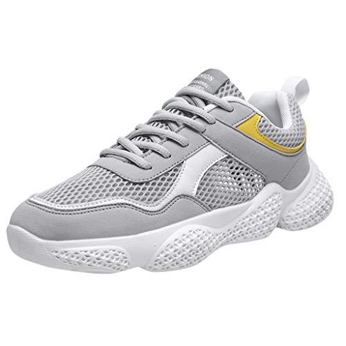 Laufschuhe Atmungsaktiv Sneaker Kontrastfarbe Laufschuhe Dämpfung Sommerschuhe Gym Sportschuhe Bequem Joggingschuhe Shoes ()