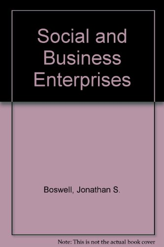 Social and Business Enterprises PDF Books