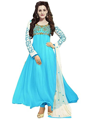 Fabulous Trendz Today Best Sale in Anarkali with Amazon Prime Offer Day by Fabulous Trendz Salwar Suits for Women Lattest Design in Pink with Designer Salwar Suit for Party Wear Free Size_Semi-Stitche