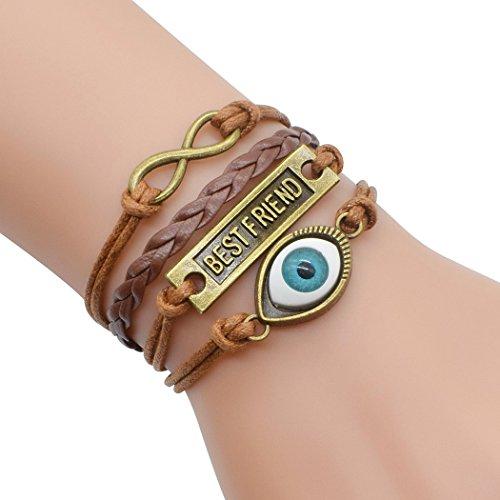 temps-usurier-retro-bronze-mauvais-oeil-meilleur-ami-2-coeurs-multicouche-tresse-bracelet-bracelet