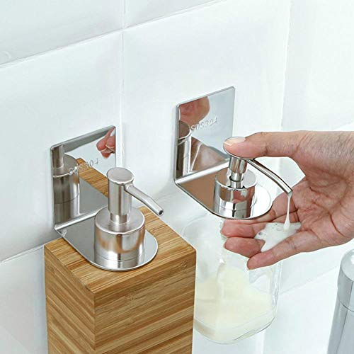 Depruies Badezimmer Wandbehang Shampoo Duschgel Flaschenregal 304 Edelstahl Nagel - Kostenlose Nahtlose Rahmen Badezimmer Rack -