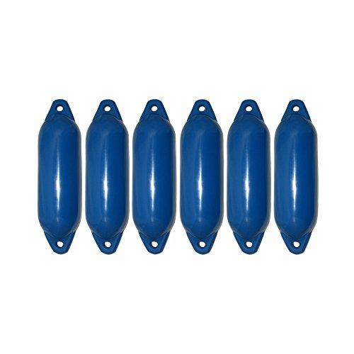 6er-Set Majoni Star 15 Fender Bootsfender blau 45 x 12 cm