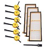 Kobay-Staubsaugerzubehör Ersatz Seitenbürsten Filter für Shark ION RV700 RV720 RV750 RV750C RV755 Neu