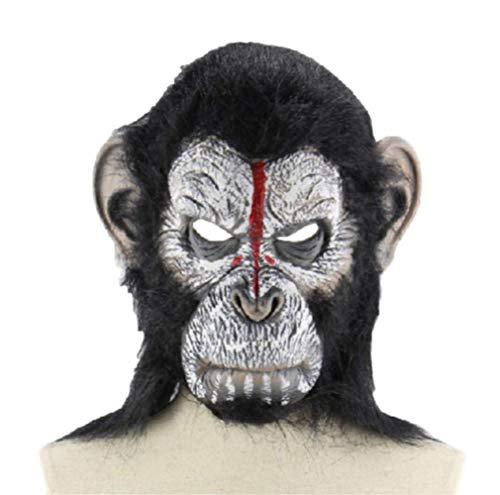 BUDIAN Halloween-Maske Gorilla Monkey Halloween Masken Vollmaske Für Erwachsene Lustige Latexmaske Party Kostüm Realistische (Realistische Gorilla Kostüm Für Erwachsene)