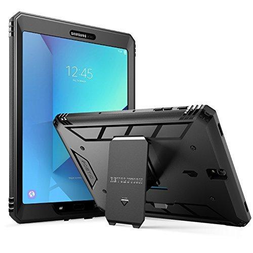 Poetic Revolution Lourd Devoir Protection Hybride Coque Protection Complète avec Protecteur d'Écran Intégré pour Samsung Galaxy Tab S3 9,7 (2017) Noir