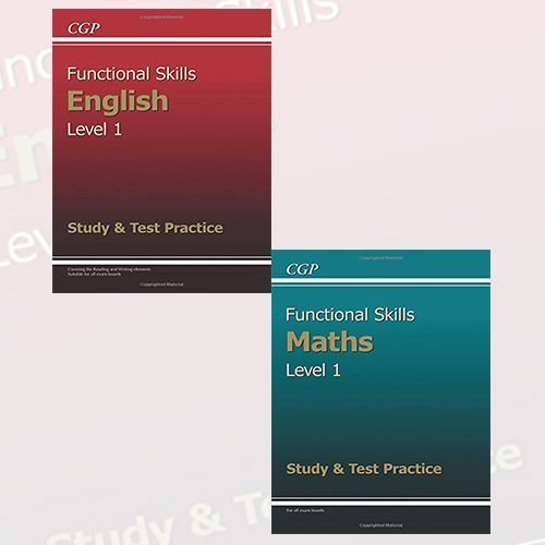 Functional Skills Level 1 - Study & Test Practice 2 Books Bundle Collection (Functional Skills Maths Level 1 - Study & Test Practice,Functional Skills English Level 1 - Study & Test Practice)