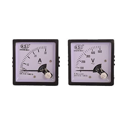 Rashri Combo of Analog Voltmeter 0-500V and 0-30Amp Ammeter Panel