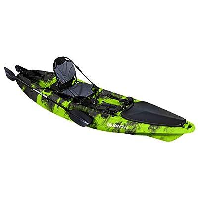 Bluewave HUNTER Sit-on-Top Pro Fishing Kayak Bundle, Includes Seat, Paddle, Rod Holders   Hunter Ultimate Fishing Kayak