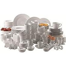 Domestic by Mäser, Super–Servizio combinato in bianco 112pezzi Servizio da tavola in 100 pezzi bianco