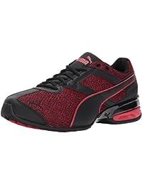 PUMA Men's Tazon 6 Knit Sneaker, Puma Black-Toreador, 9. 5 M US