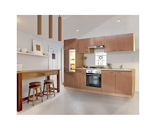 Respekta lbkb270bbma - blocco per cucina componibile, 270 cm, in faggio