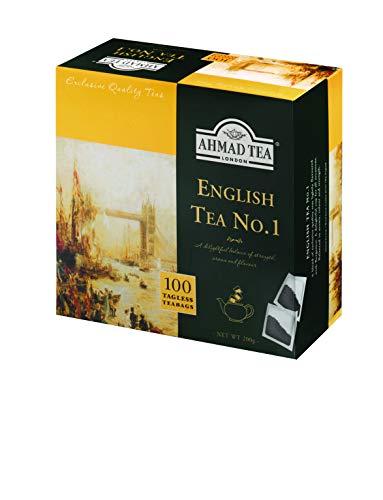 Ahmad Tea - English Tea No. 1 | Schwarzteemischung mit Bergamotte | 100 Teebeutel á 2 g | Teebeutel ohne Band (Ahmad Tea English 1)