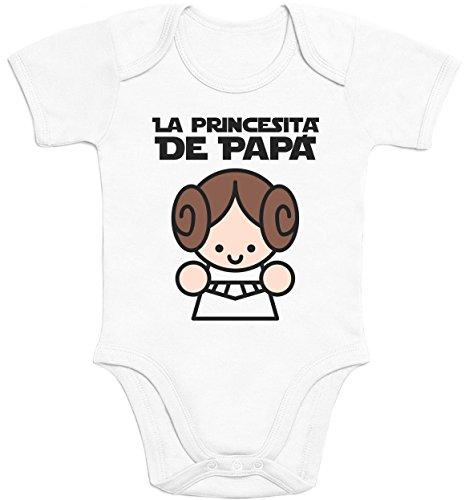 La Princesita de Papa - Regalo para el padre Body bebé manga corta 6M