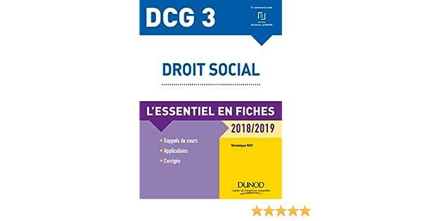6056f74f1c3 DCG 3 - Droit social - 9e éd.   L essentiel en fiches - 2018 2019 eBook   Véronique Roy  Amazon.fr  Amazon Media EU S.à r.l.