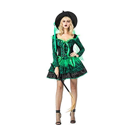 OLKWG Halloween Hexe Cosplay Kostüm Teufel Halloween Böse Schwarze Hexe