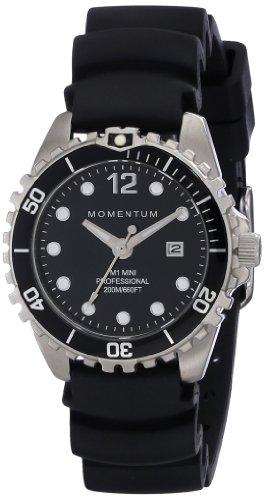 Momentum Damen-Armbanduhr XS M1 Mini Analog Quarz Kautschuk 1M-DV07BB1B (Momentum Taucheruhr M1)