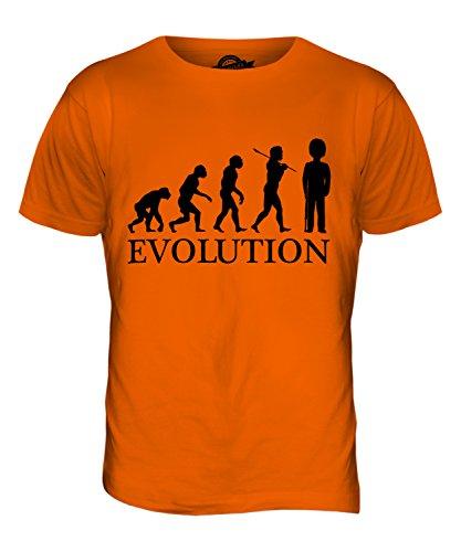 CandyMix Guardia Reale Evoluzione Umana T-Shirt da Uomo Maglietta Arancione