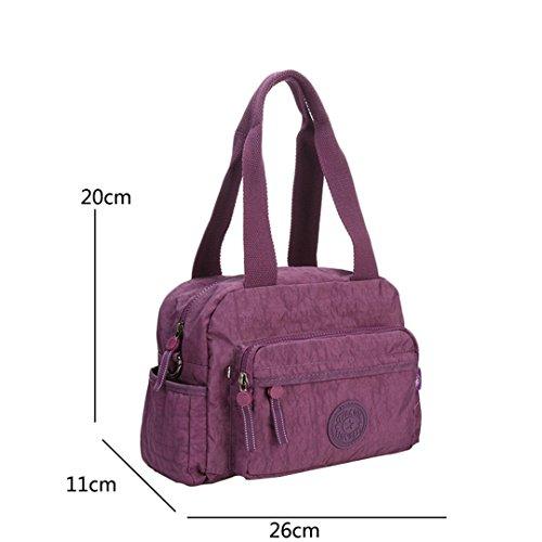 JOTHIN Hochwertige Männer und Frauen Umhängetasche lässig Tasche Messenger Bag kleine Schulranzen 26x20x11cm(L*H*W) Lila