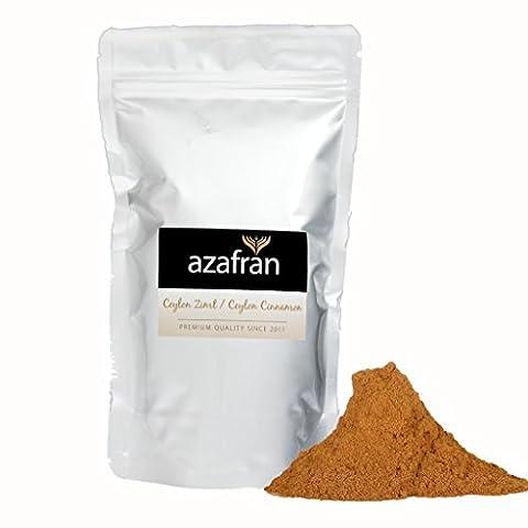 BIO-Ceylon Zimt gemahlen – Zimtpulver (250g) mit geringem Cumarin von Azafran® (Honig Zimtpulver)