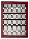 Rothenschild Uhrenvitrine RS-1100-30BU Fuer 30 Uhren bubinga