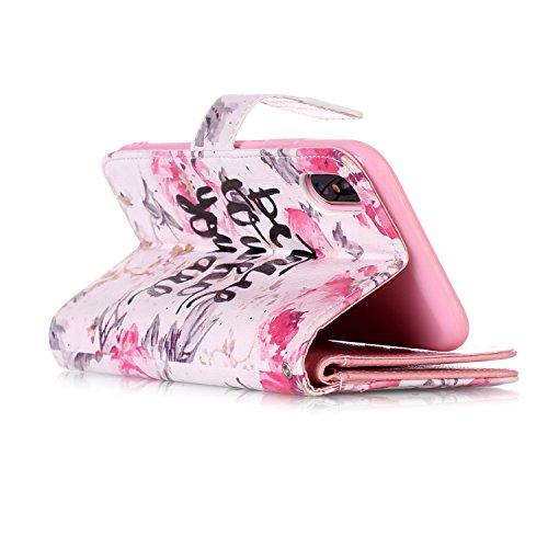 inShang Hülle für iPhone X 5.8 inch mit integriertem Brieftaschen-Design, iPhoneX 5.8inch cover case mit Standfunktion. Be you are