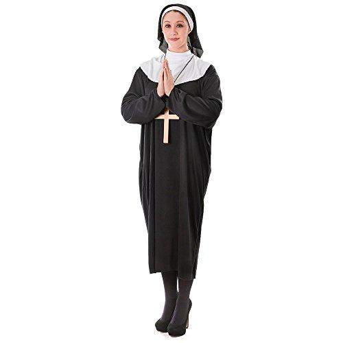 2Nonne Plus Größe Kostüm, X-Large (Bibel-halloween-kostüme)