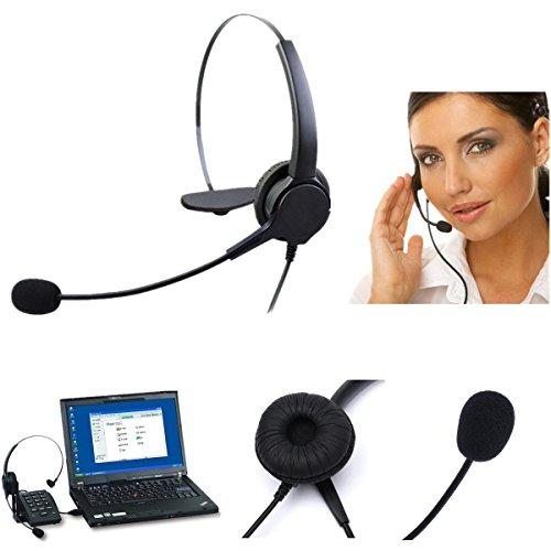 ELEGIANT Telefon Headset Kopfhörer für Festnetz Telefonanlage Call center RJ11 Headset Telephone Telefon Headset mit Mikrofon für Büro office Festnetz